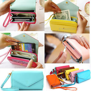 Womens-Multifunctional-Card-Bag-Colorful-Purse-Phone-Case-Envelope-Clutch-Wallet