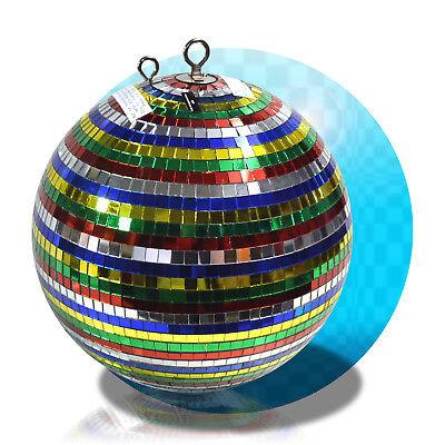 Diskokugel Spiegelkugel Discokugel 30cm DJ Party Multicolor Partylicht +2te. Öse - Multi Öse