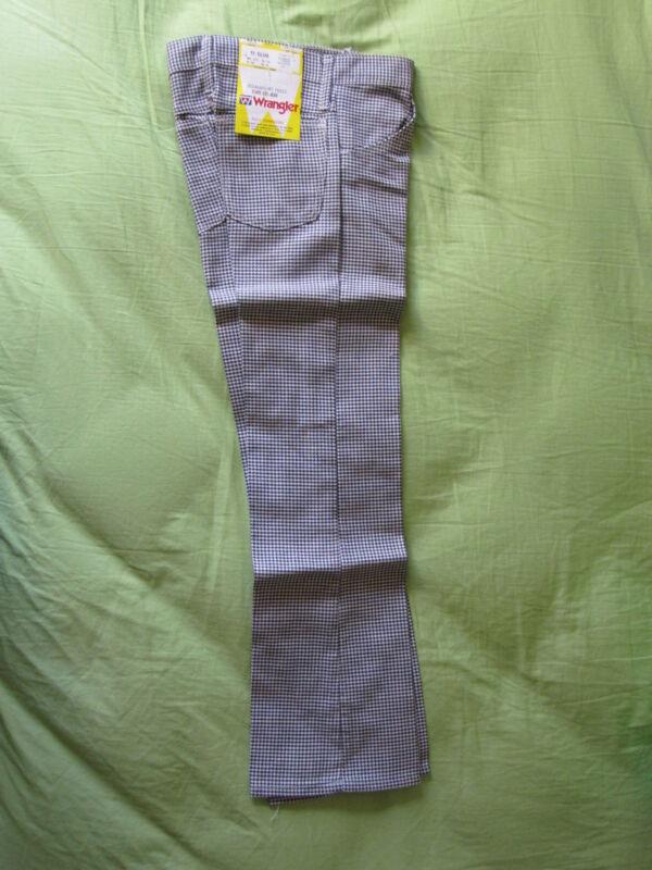 70s Vintage Wrangler Houndstooth Pattern 11 Slim Pants Boys/Girls Hippy Cute