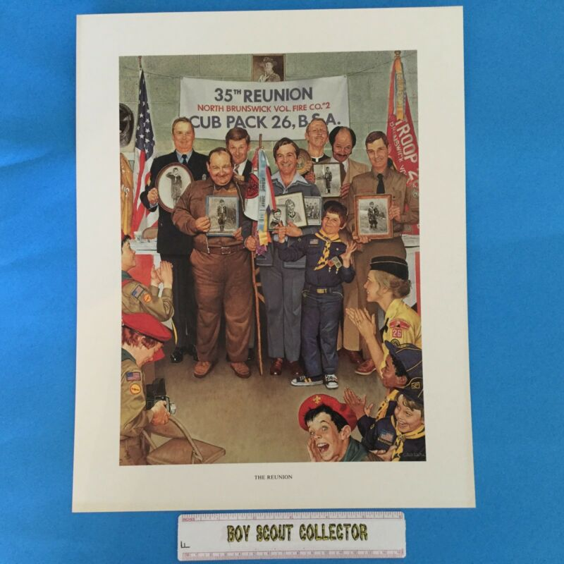 "Boy Scout Joseph Csatari Print 11""x14"" The Reunion"