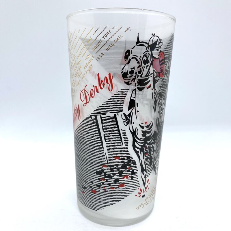 Vintage 1961 Kentucky Derby Mint Julep Glass - Collectible Horse Racing Souvenir