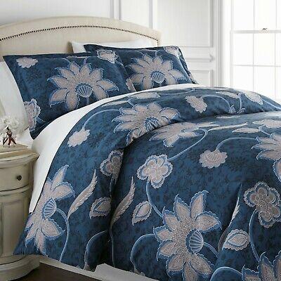 Grand Floral Reversible Comforter Sets - Oriental Com