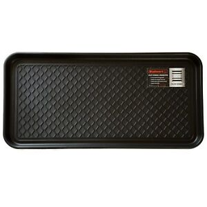 Stalwart Utility Boot Tray 30 x 15 In. Muddy Shoes Plastic Drip Mat Set of 2