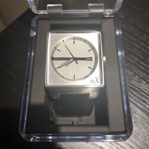 Armani exchange watch with leather strap