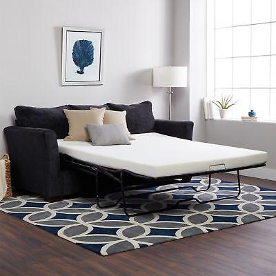 72 x 54 x 4.5 in Full Size Memory Foam Mattress Sofa Bed Sle