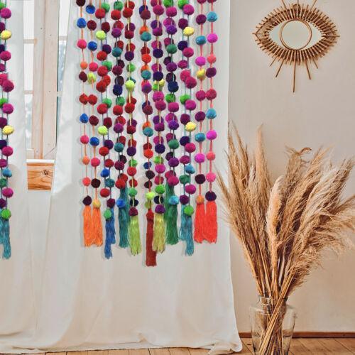 5FT Mexican Pom Pom Garland / Home Decor / Bohemian Decor / Wedding