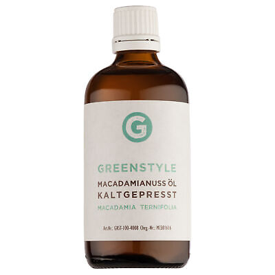 Macadamianussöl kaltgepresst 100ml in Glasflasche von greenmade