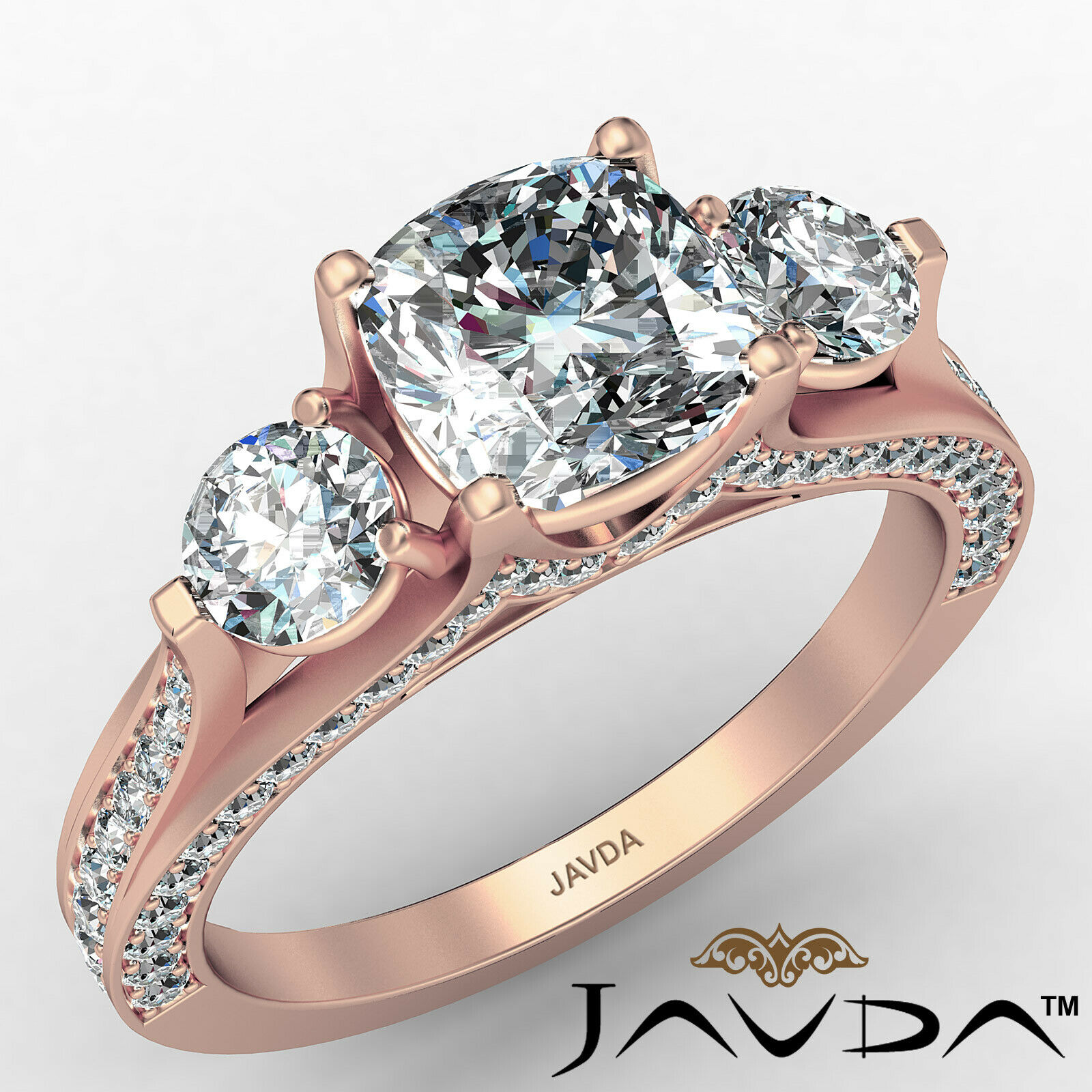 Cushion Diamond Engagement Ring Certified by GIA E Color & VVS1 clarity 2.1 ctw 2