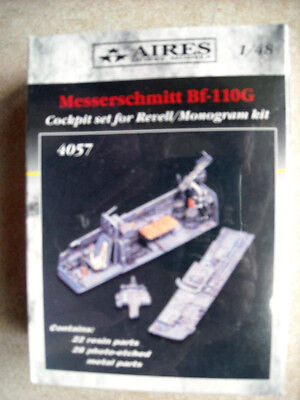 Aires 1/48 4057 Messerschmitt Bf-110GCockpit Set for Revell/Monogram Kit