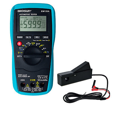 Digital Automotive Multimeter Autorange Acadca Max.20a Electrical Instruments