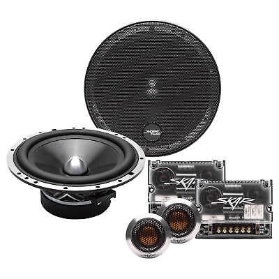 NEW SKAR AUDIO SPX-65C 6.5-INCH 400 WATT 2-WAY COMPONENT SPEAKER SYSTEM - PAIR