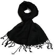 Large Black Pashmina
