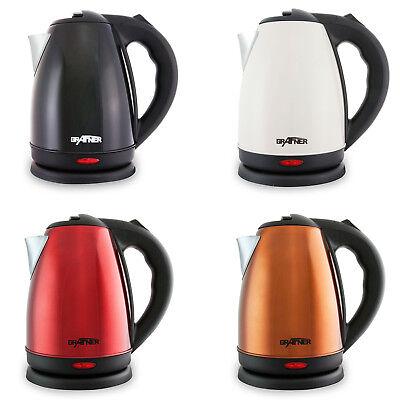Grafner Edelstahl Wasserkocher Teekocher Teekessel Kocher 1,8L 2200W schnurlos
