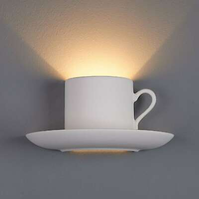Wandleuchte Konstantin Gebogen Wandlampe Gipsleuchte Gipslampe Lampenwelt