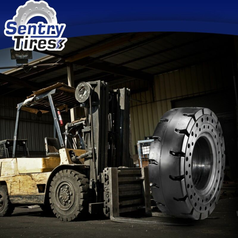 6.00-9 (600x9) Sentry Tire Solid Forklift Tires Pair of Tires (2x Tires) SD