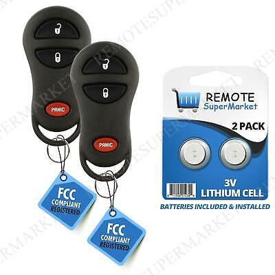 2 Replacement for Dodge 1999-2002 Ram 1500 2500 3500 Remote Car Key Fob Van