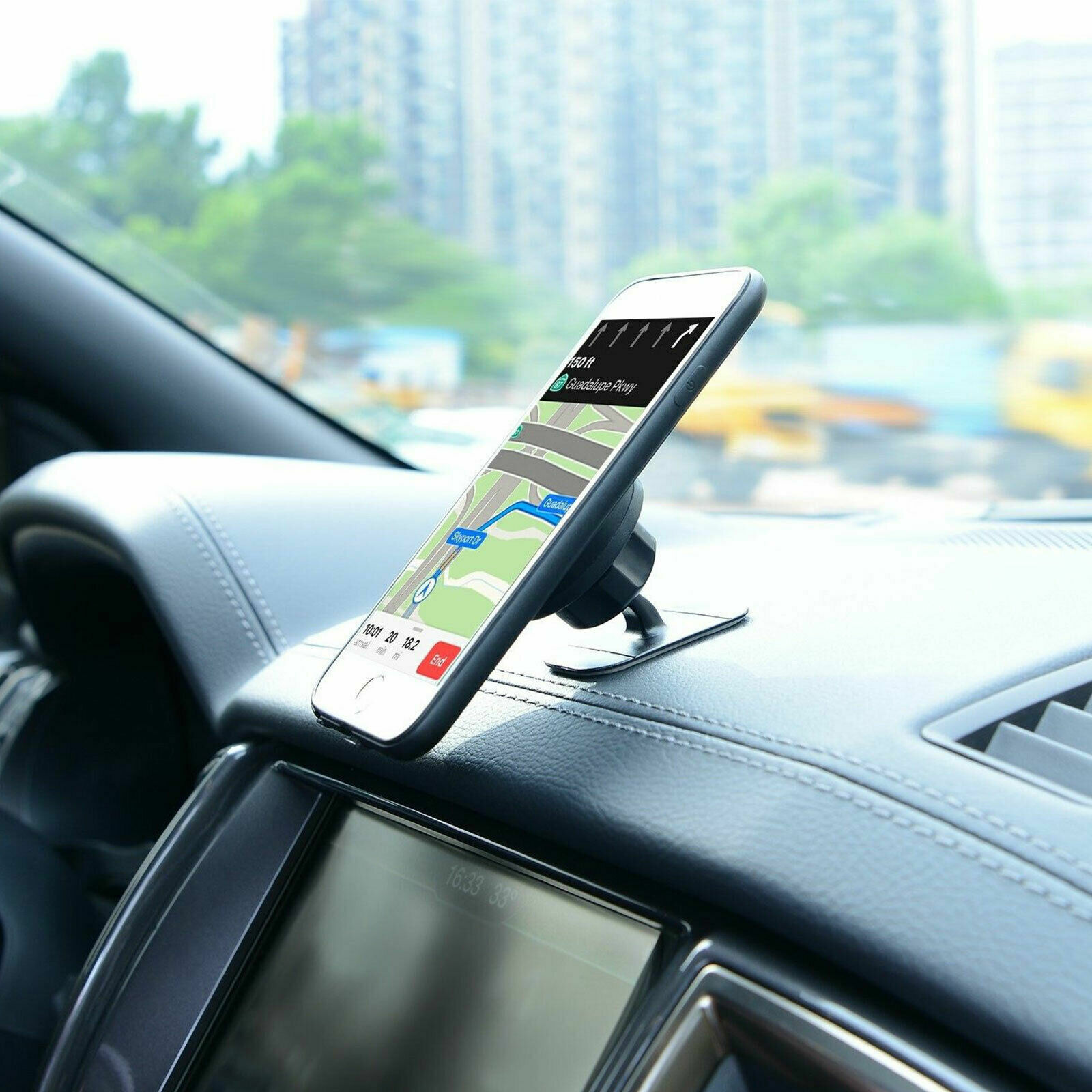 360° Magnetic Car Mount Holder Stand Stick On Dashboard For Cell Phone iPhone LG Cell Phone Accessories