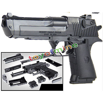 1:10 kids  toys building blocks gun model assembling pistol Desert Eagle