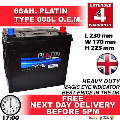 005L/56068 Platin Premium Car Battery 12V 60AH 66AH H/DUTY