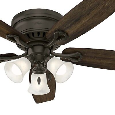 Hunter Fan 52 inch Bronze Finish Ceiling Fan with Light Kit & Remote Control (Bronze Ceiling Kits)