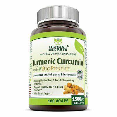Herbal Secrets Turmeric Curcumin with Bioperine Dietary Supp
