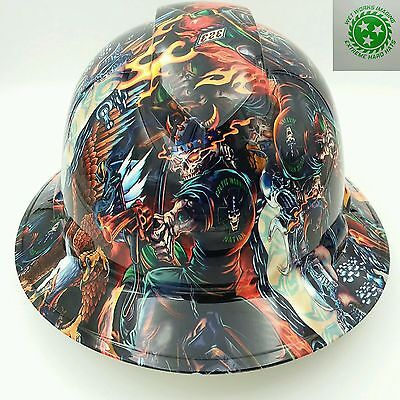 Hard Hat Full Brim Custom Osha Approved Color Death Rider New Hydro Dipped