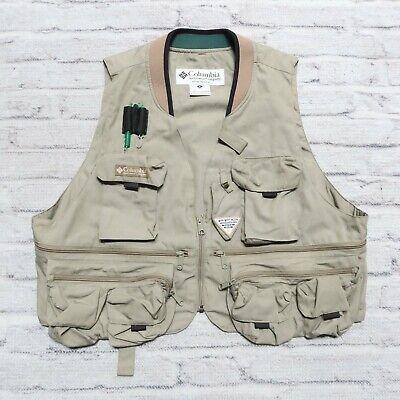 Details about  /EDDIE BAUER Beige Cotton Nylon Fishing Utility Vest Size XL
