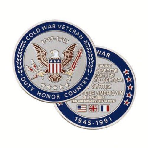 """COLD WAR VETERAN 1945-1991 1.75""""  CHALLENGE COIN"""