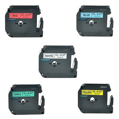 5pk Mk M-k 231 431 531 631 731 Label Tape For Brother P-touch Pt-65sb 12 12mm