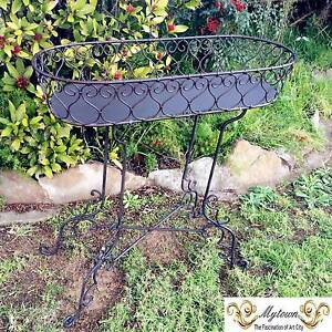 Elegant FRENCH provincial Wrought Iron Antique Planter Stand Bradbury Campbelltown Area Preview