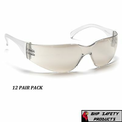 SAFETY GLASSES IO MIRROR LENS INDOOR / OUTDOOR PYRAMEX INTRUDER S4180S (12 PAIR)