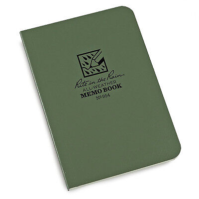 Rite In The Rain Memo Book Military Outdoor Waterproof Notebook Paper Green