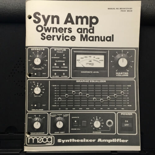 Original Owner & Service Manual for the Moog Syn Amp Synthesizer Amplifier