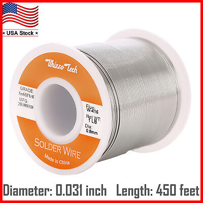 6040 Tin Lead Rosin Core Solder Wire Electrical Sn60 Pb40 Flux .0320.8mm 1lb
