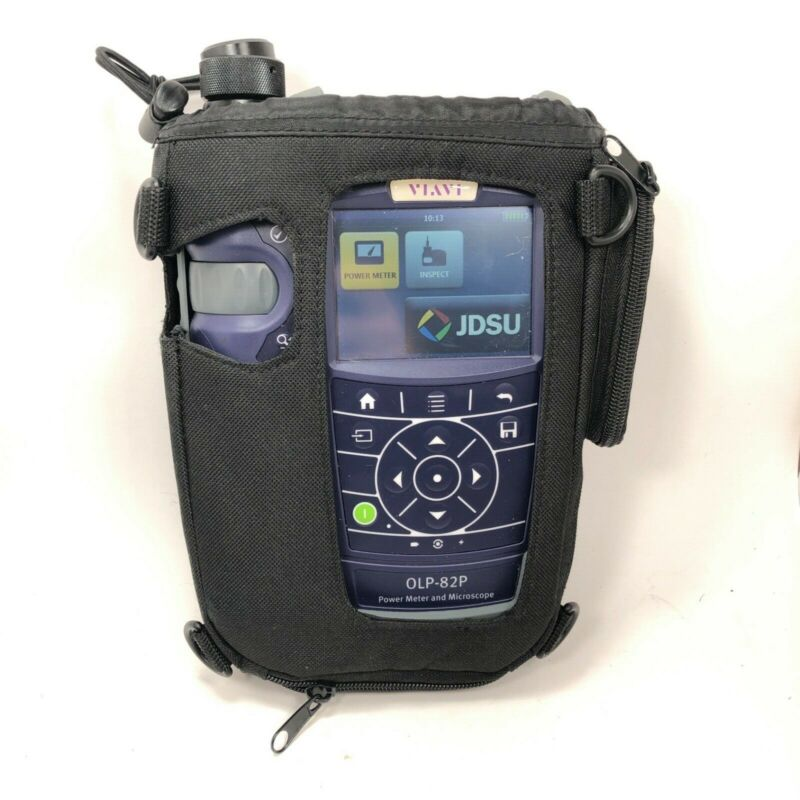 JDSU VIAVI OLP-82P Power Meter Fiber Optic Microscope Inspection w/ Case And Bag