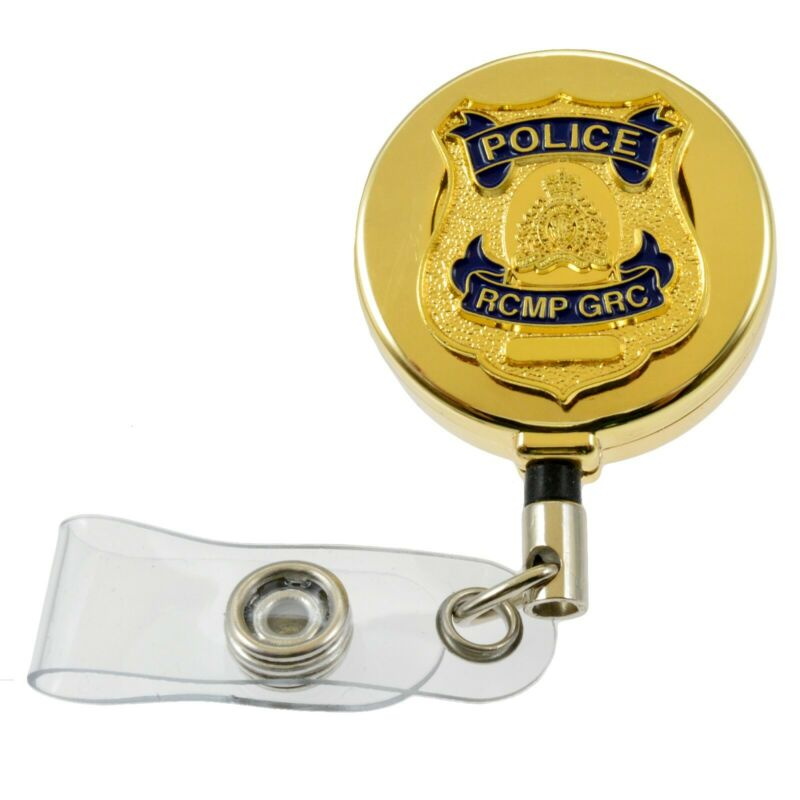 RCMP GRC Canada Mounted Police Badge Retractable Security ID Card Holder Reel