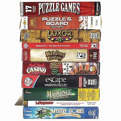 LOT 10 Big Box PC games MAHJONG puzzle games LUXOR casino Mystery P.I. POP CAP