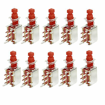 20pcs Self Lock Latching Uni-direction Pcb Push Button Switch Dpdt 6 Pins