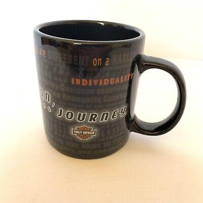 Harley Davidson Coffee Tea Mug Black Its Not the Destination Its the (Its Not The Destination Its The Journey)