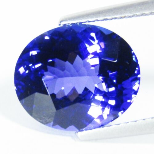 6.45Cts Intense Blue Color Natural Tanzanite Oval 12.5x10.5mm Collection Gem VDO