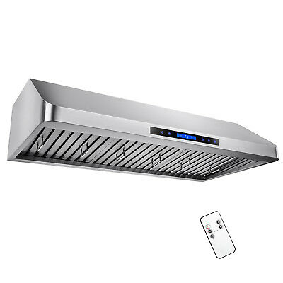 """48"""" Under Cabinet Touch Control /w Remote Kitchen Vent Fan Range Hood Filters"""