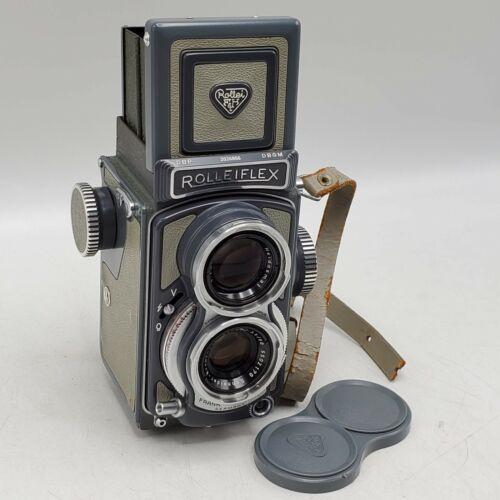 1957 Rollei Baby Rolleiflex 4x4 TLR Camera w/ Xenar 60mm F3.5 Lens - Gray *READ*
