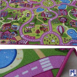 Peque o alfombra de juego maravilloso dulce town carretera ni a infantil ebay - Alfombra nina ...