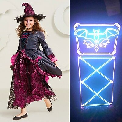 Marie Antoinette Costume Child S M L Light Up Gothic Queen Witch Youth Halloween - Baby Light Up Halloween Costume