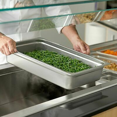 Full Size 4 Deep Solid Stainless Steel Hotel Steam Table Food Pan