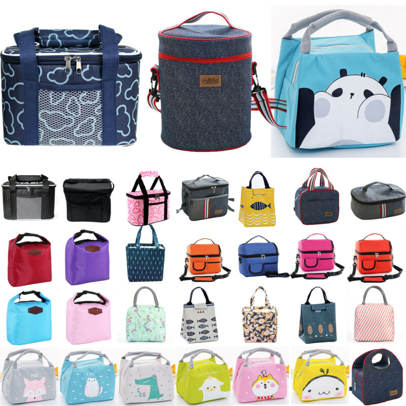 Portable Thermal Insulated Cooler Lunch Bag Travel Picnic Bo