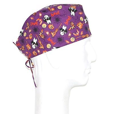 Happy Halloween Casper the Friendly Ghost Theme Scrub Hat - Happy Halloween Casper The Ghost