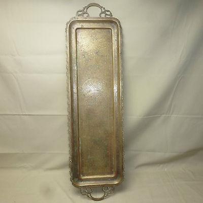 Tablett indischer Stil orientalisch Metall 84x24cm gebraucht/G10008