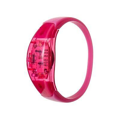 1 Rosa Sound Aktiviert LED Armbänder Licht Blinkende Voice Control Musik Band ()