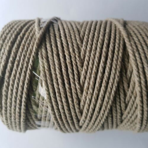Linen&Cotton Cord 3 mm/100 m of High Quality Yarn of the Crafts Macrame Tools